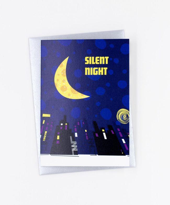 Weihnachtskarte Silent Night · Half Moon