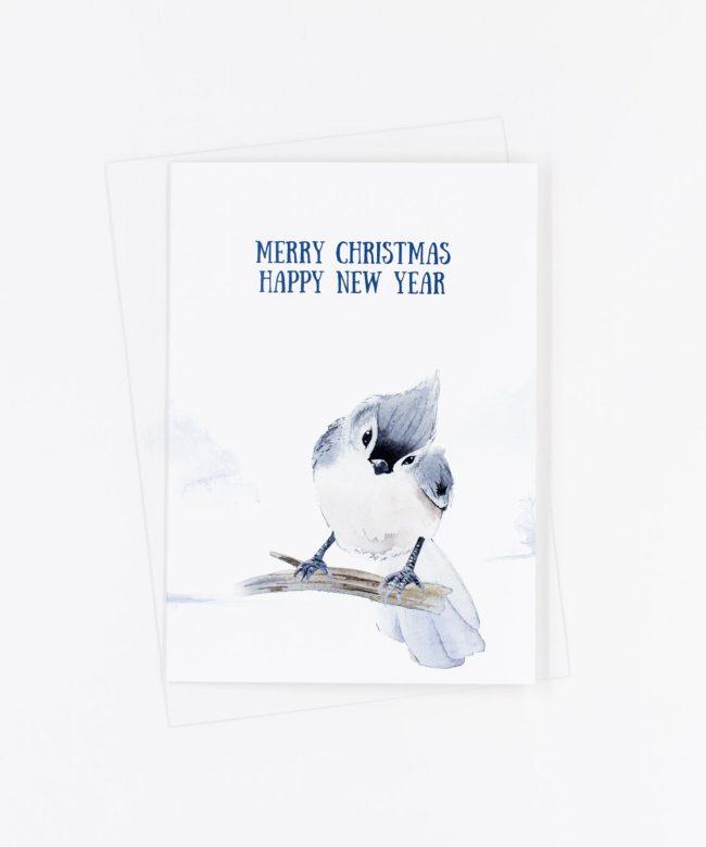 Weihnachtskarte Winter · Vogel