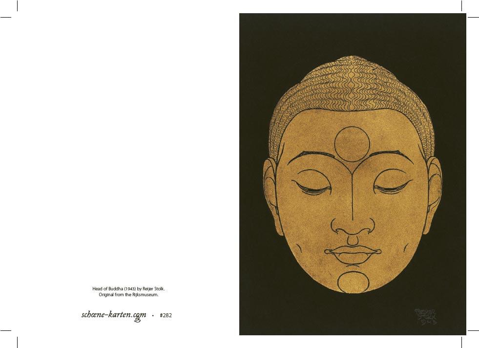 Grußkarte Head of Buddha