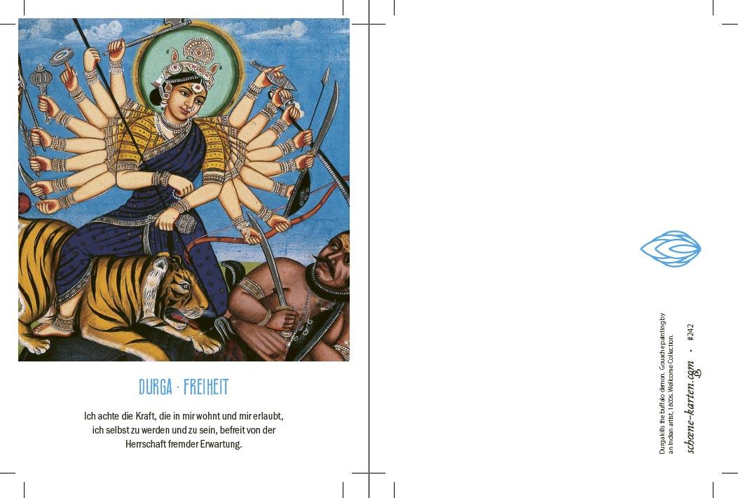 Yoga Postkarte Durga