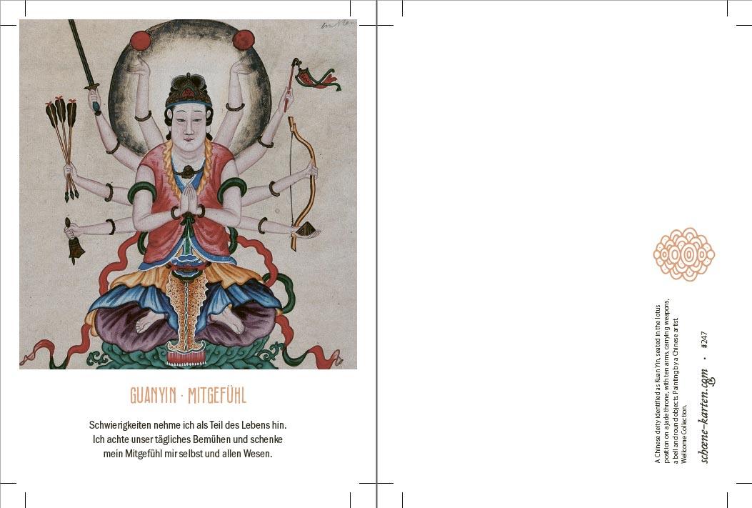 Yoga Postkarte Guanyin