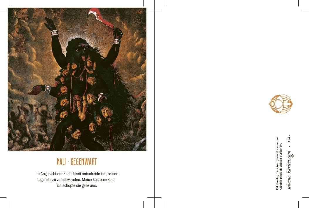 Yoga Postkarte Kali