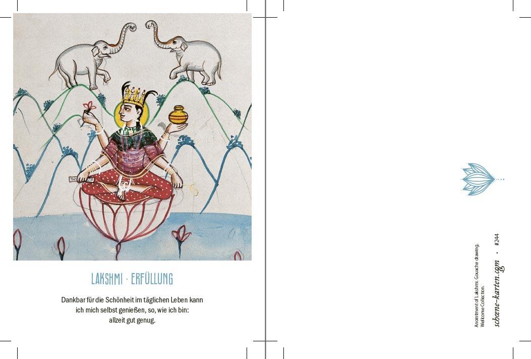 Yoga Postkarte Lakshmi