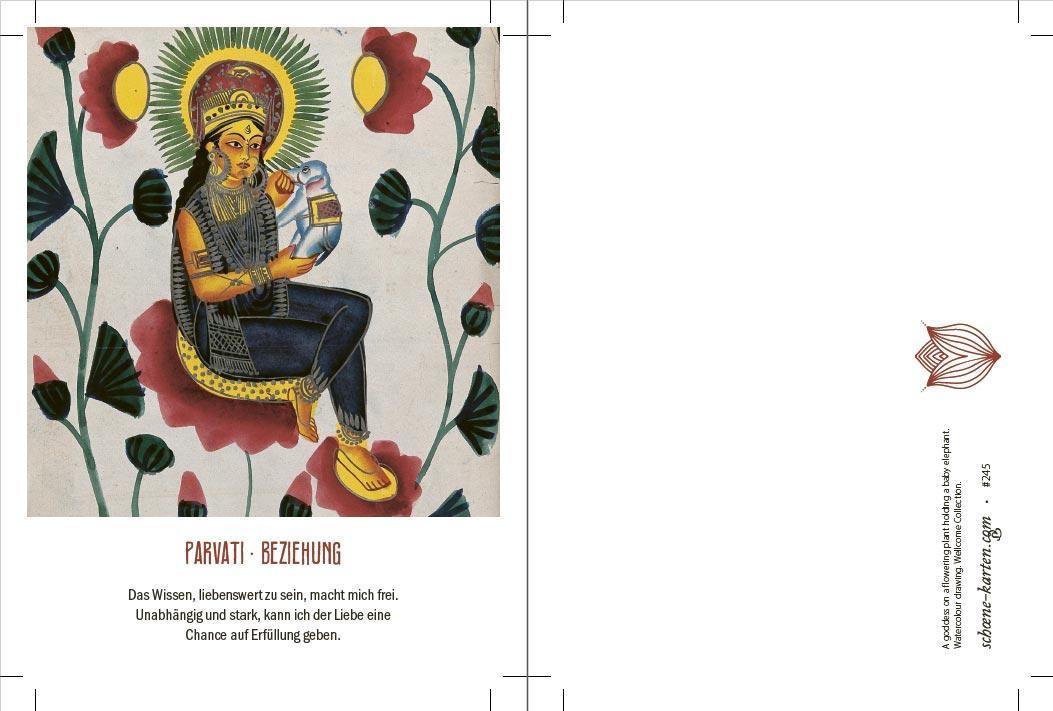 Yoga Postkarte Parvati