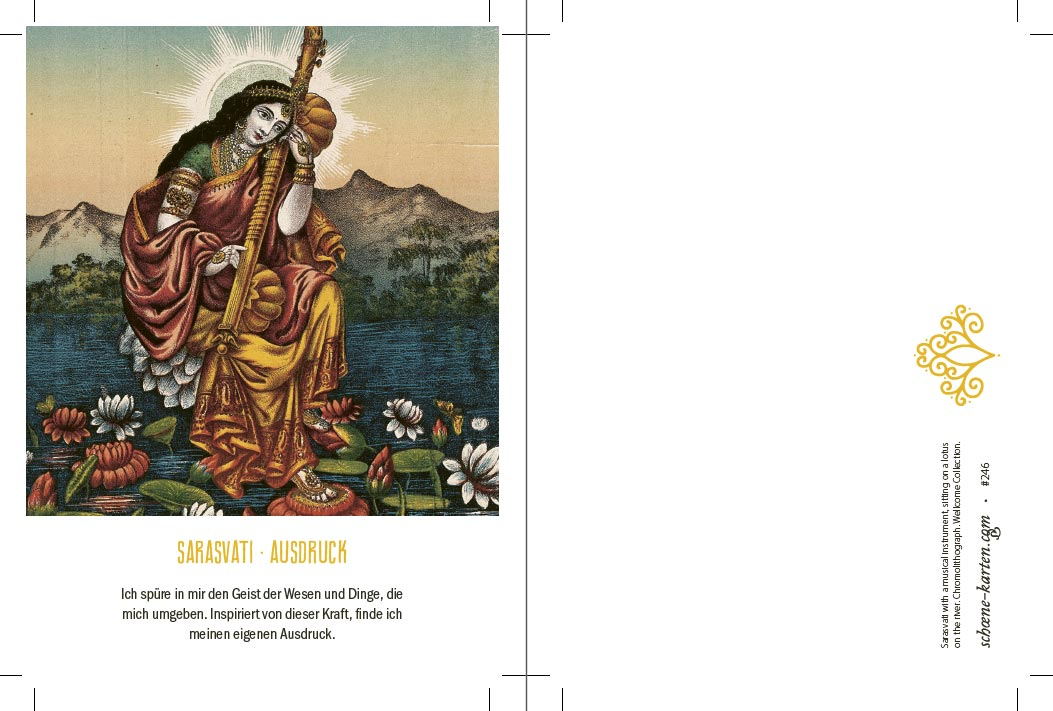 Yoga Postkarte Sarasvati
