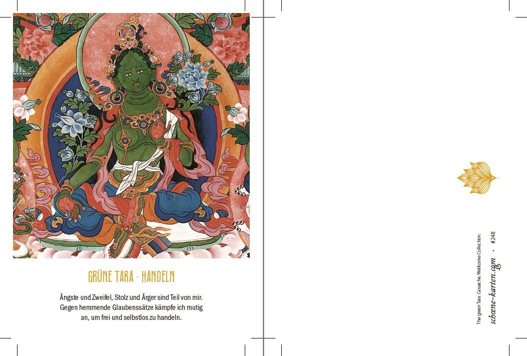 Yoga Postkarte Grüne Tara