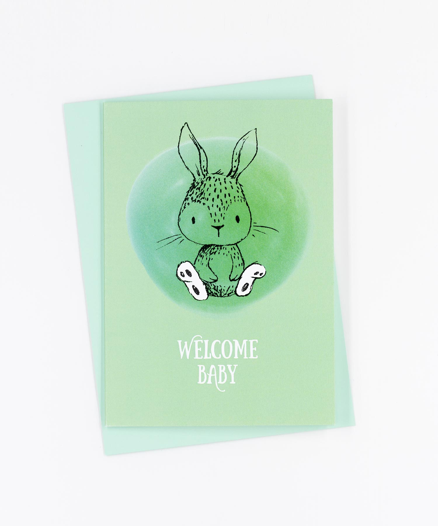 Geburtskarte Welcome Baby · Hase