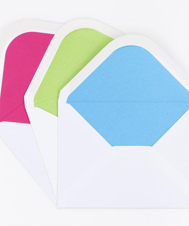 Kuverts innen farbig