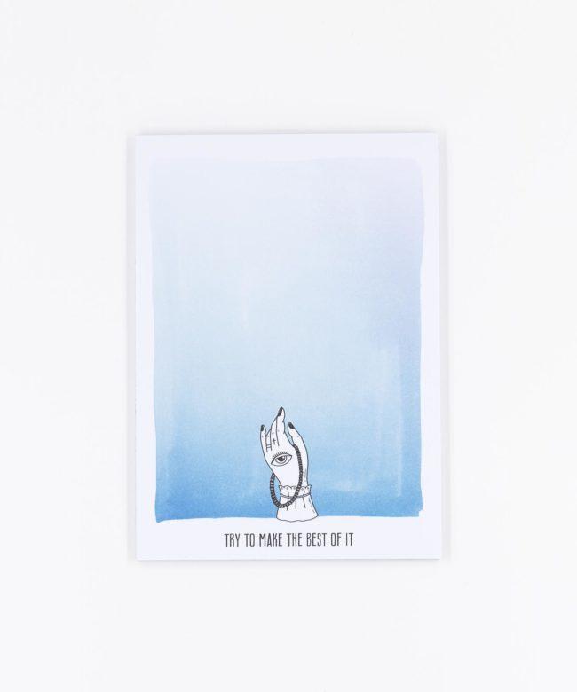 Notizblock Horoscope blau