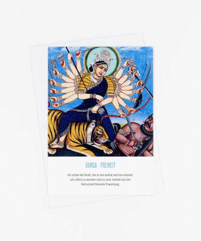 Yoga Postkarte Göttin Durga