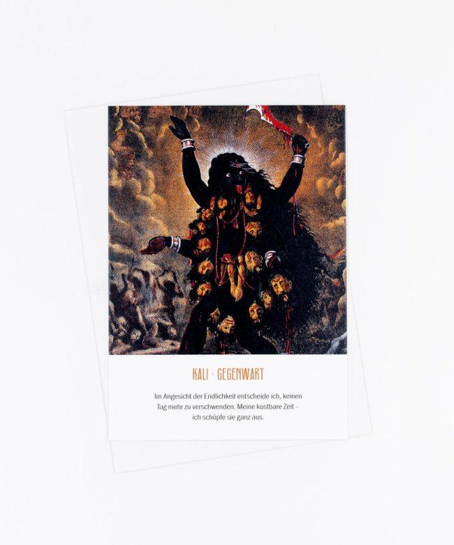 Yoga Postkarte Göttin Kali