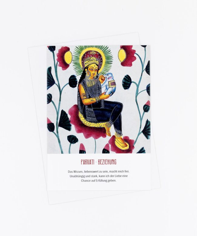 Yoga Postkarte Göttin Parvati